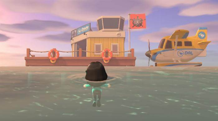 Animal Crossing: New Horizons - Airport from sea