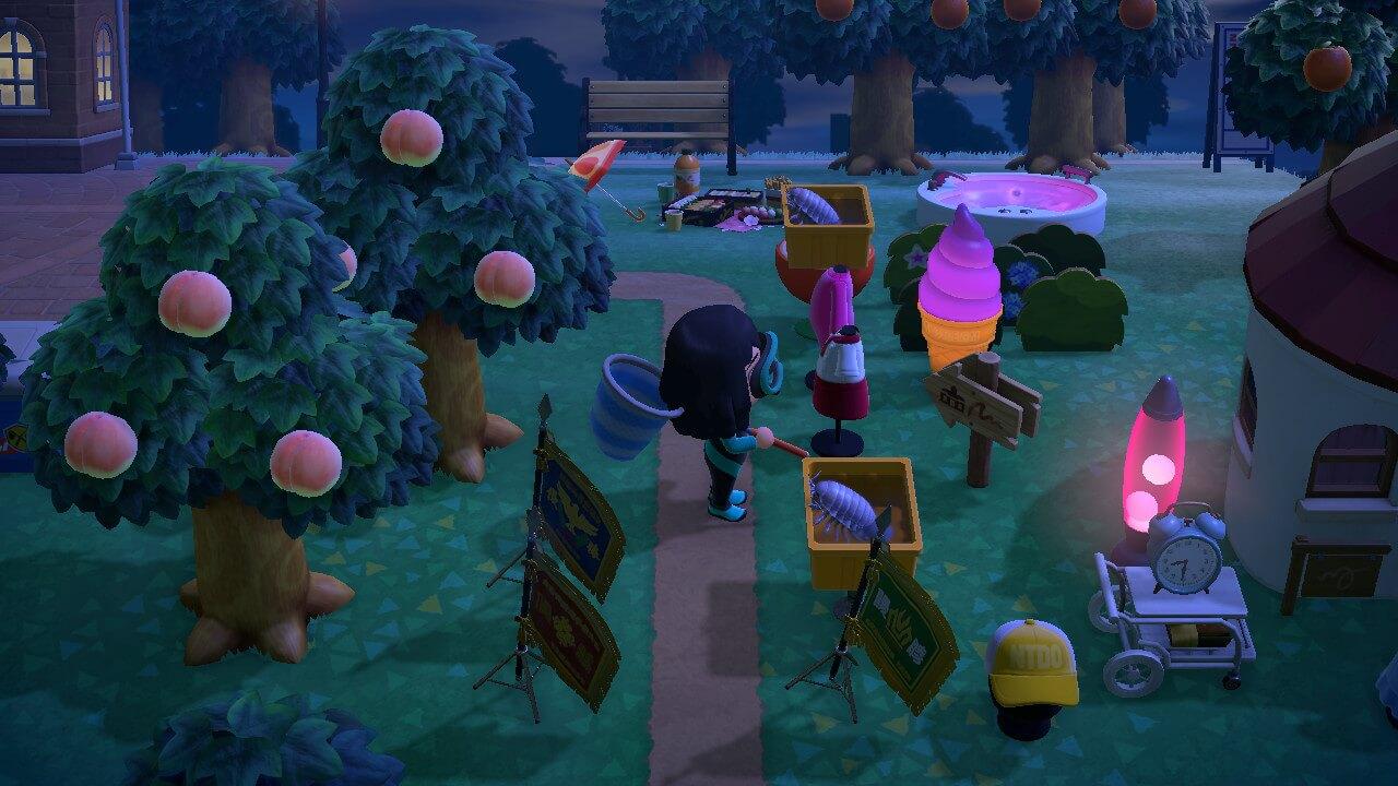 Animal Crossing: New Horizons - Isopod on orange table