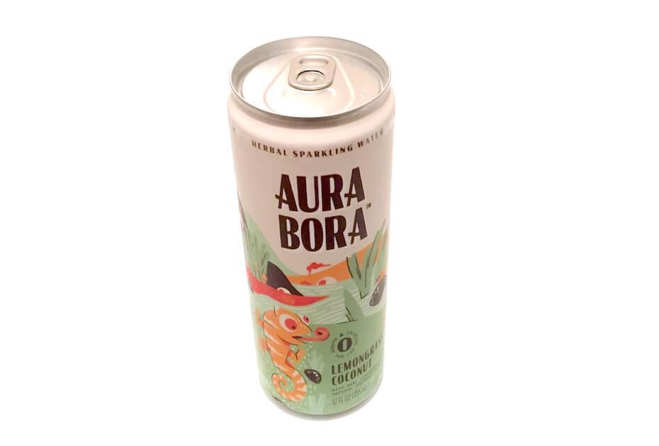 Aura Bora Lemongrass coconut sparkling water