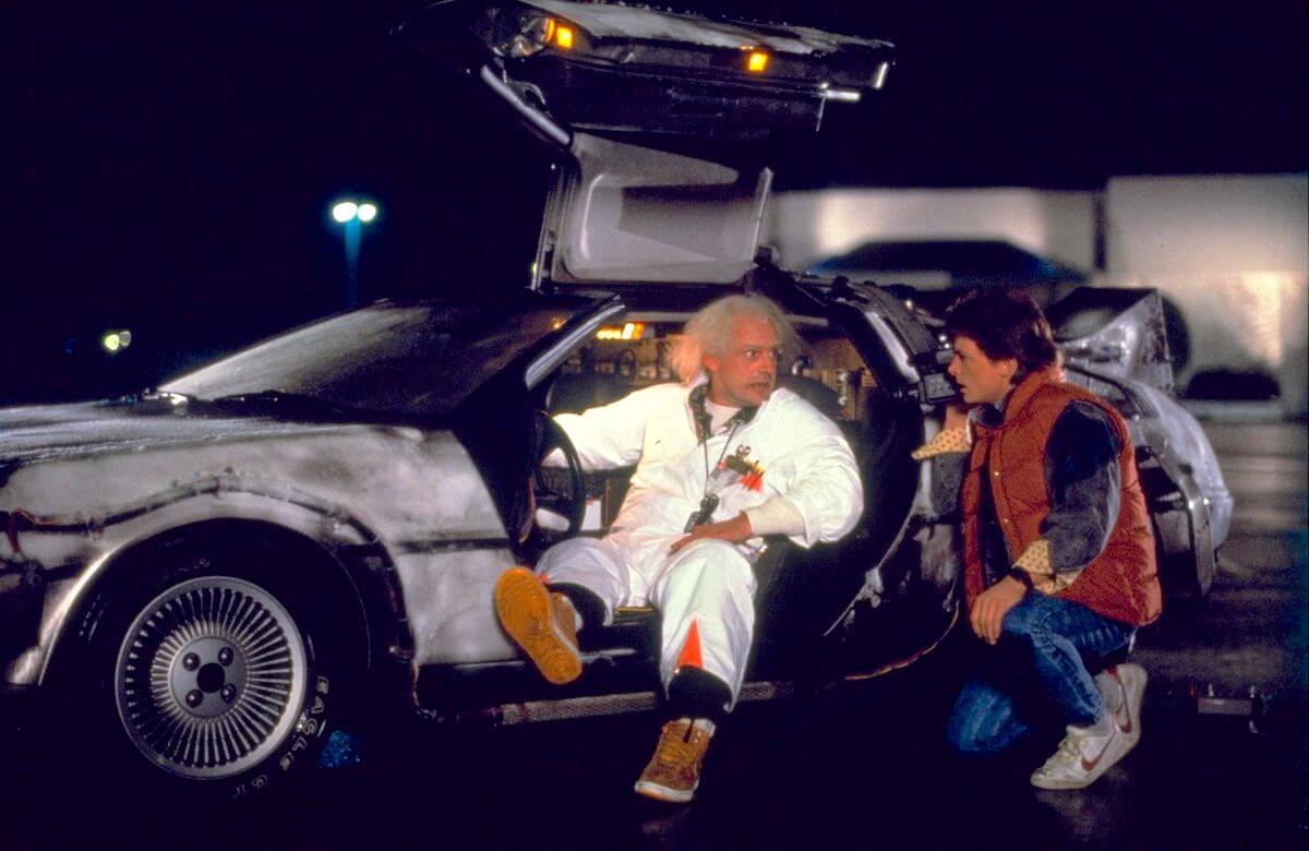 Back to the Future: Doc and Marty in the DeLorean
