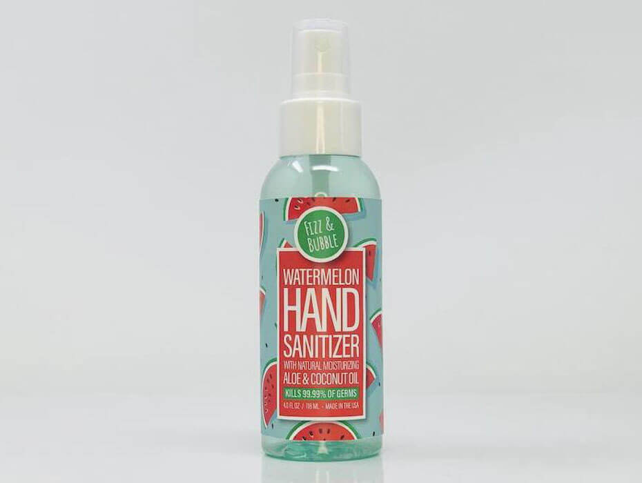 Fizz & Bubble Watermelon hand sanitizer