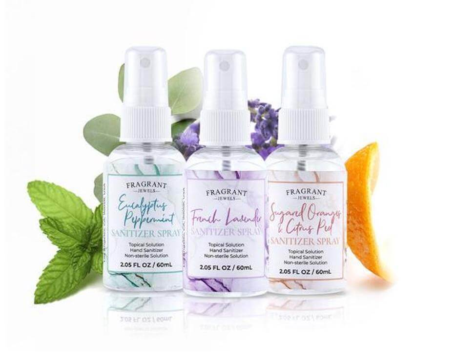 Fragrant Jewels hand sanitizer trio