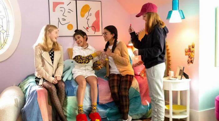 Netflix's The Baby-Sitters Club hanging out in room