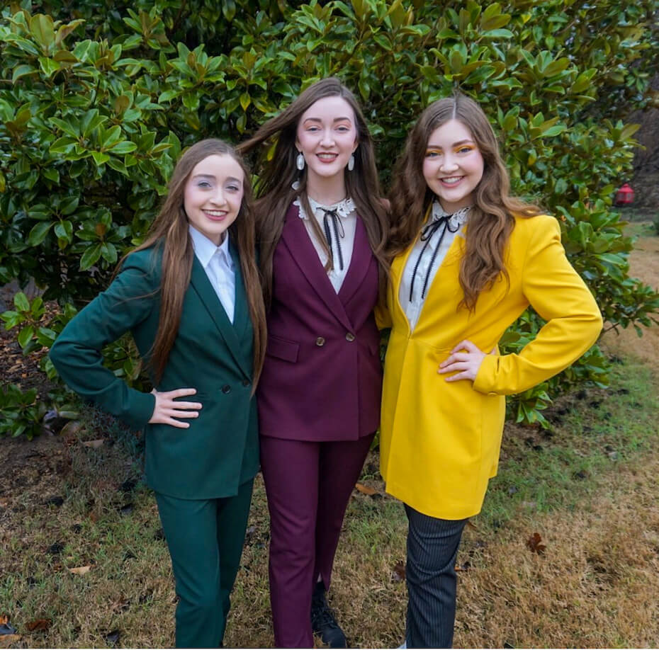 The K3 Sisters Band suits