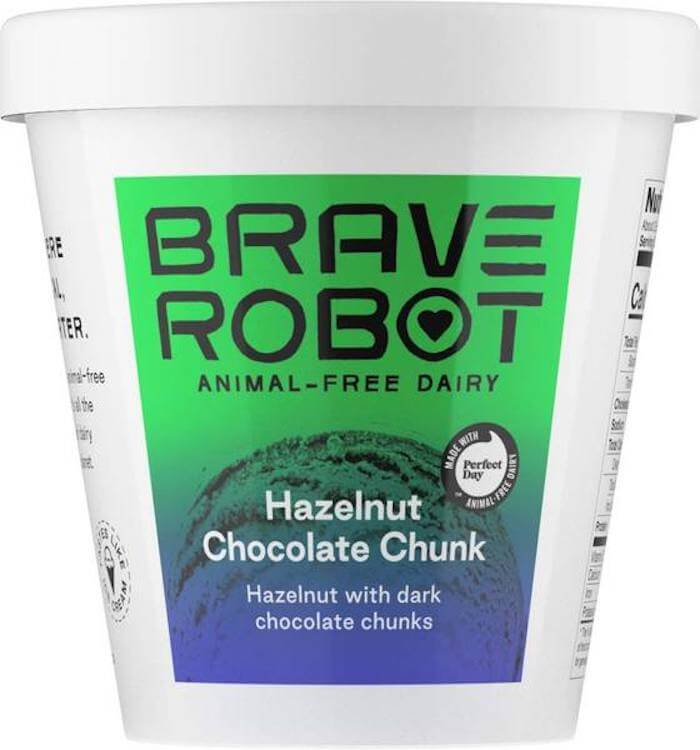 Brave Robot hazelnut chocolate chunk Ice cream