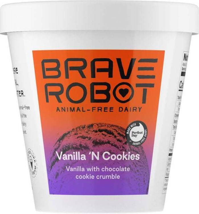 Brave Robot vanilla n cookies Ice cream