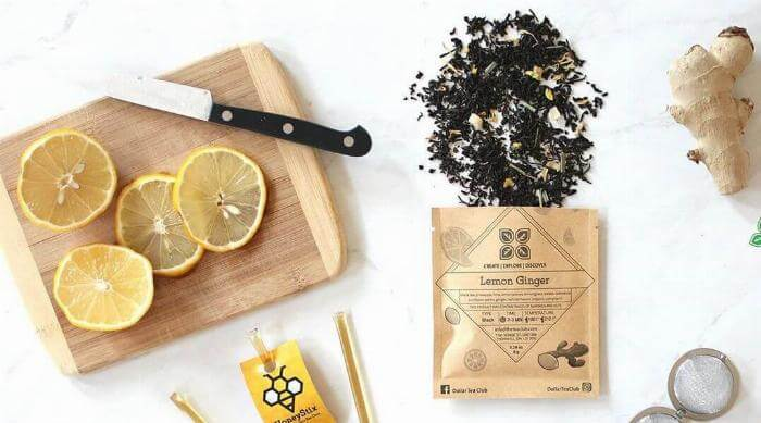 Instagram @dollarteaclub Lemon Ginger Black Tea