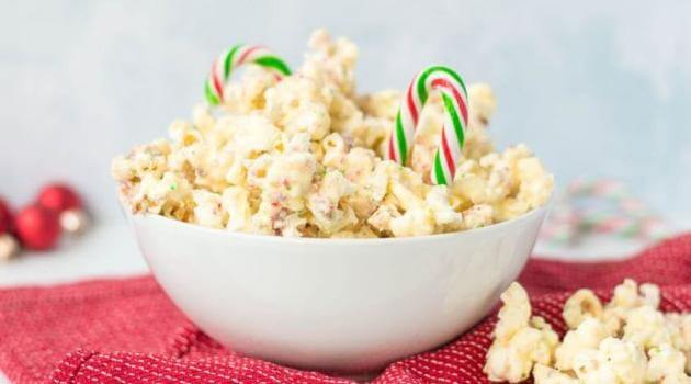The Spruce Eats Candy Cane Popcorn