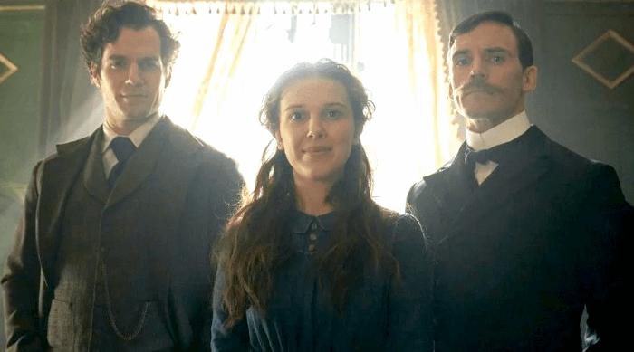 Enola Holmes: Henry Cavill, Millie Bobby Brown and Sam Claflin