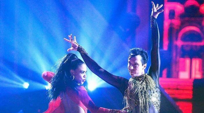 Instagram @brittbenaie Britt Stewart dancing with Johnny Weir
