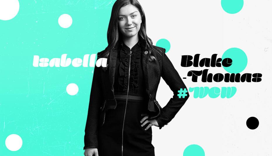 Isabella Blake-Thomas Woman Crush Wednesday