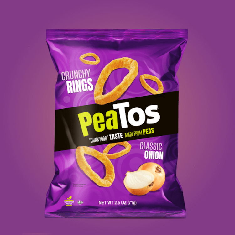 PeaTos Crunchy Rings in Classi Onion