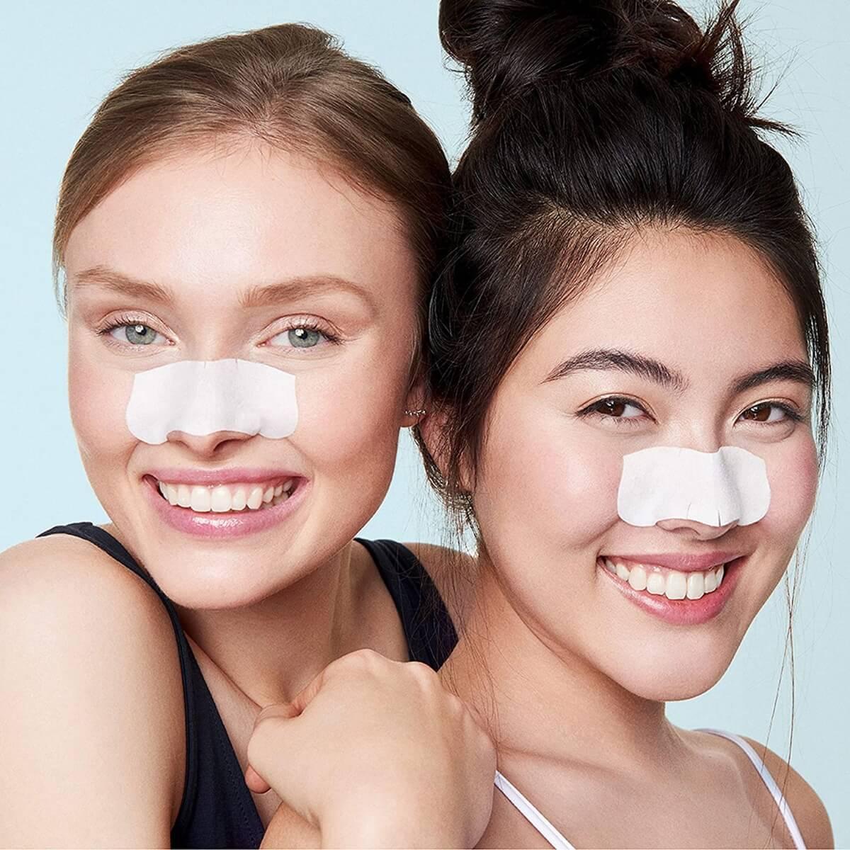 girls nose strips blackheads