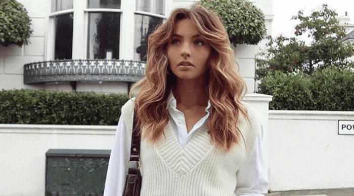 girl sweater vest fashion