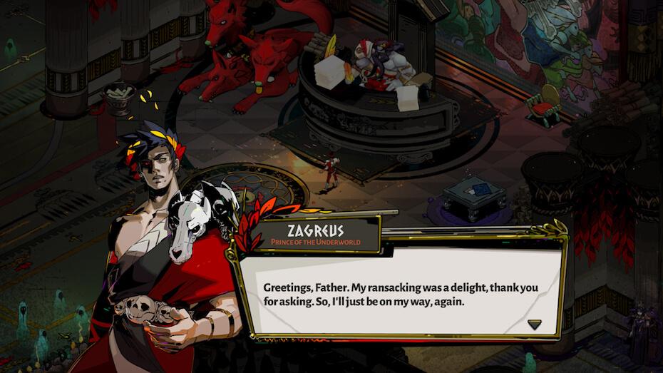 Hades: Zagreus dialogue