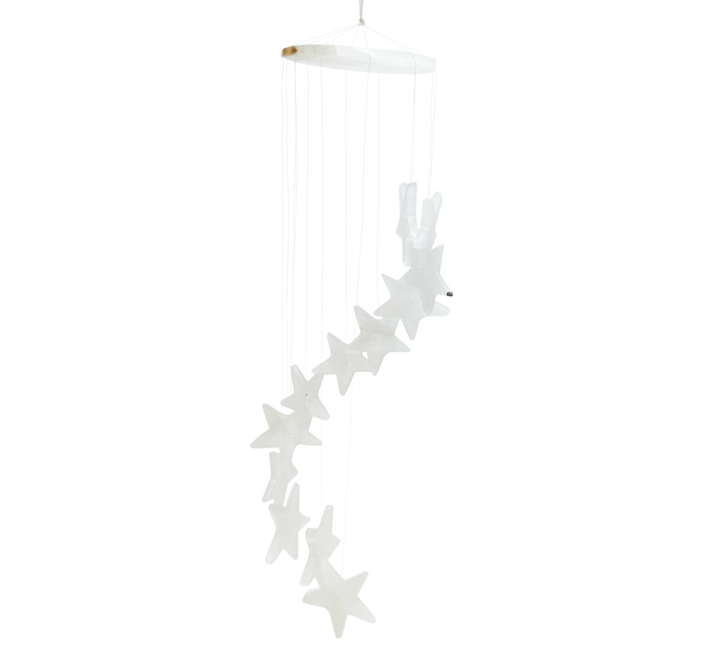 House of Intuition: White onyx wind chime