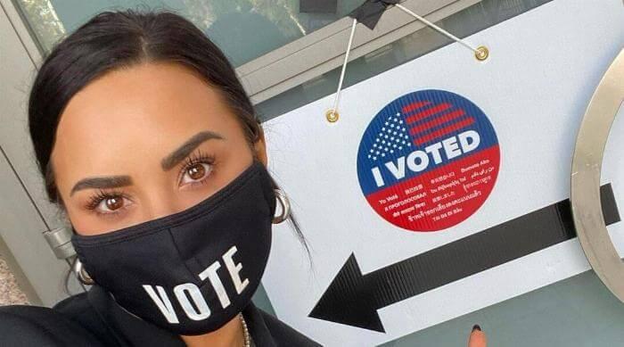 Instagram @ddlovato Demi Lovato 'I Voted'