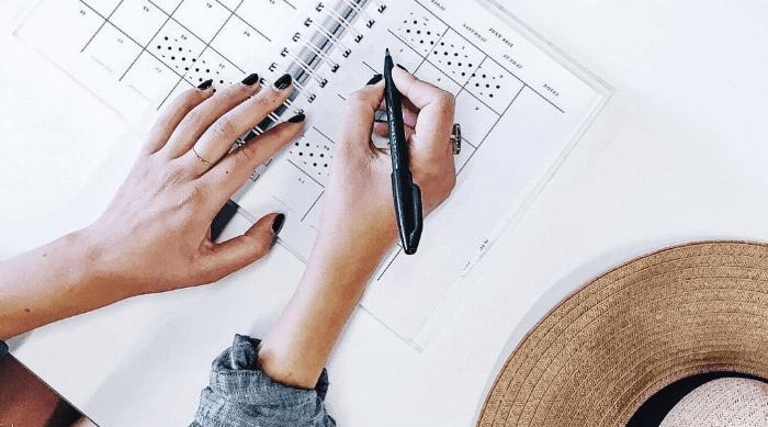 organized jane planner writing desk