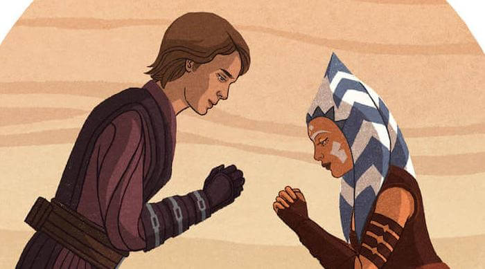 Star Wars: The Jedi Mind: Ahsoka and Anakin bowing