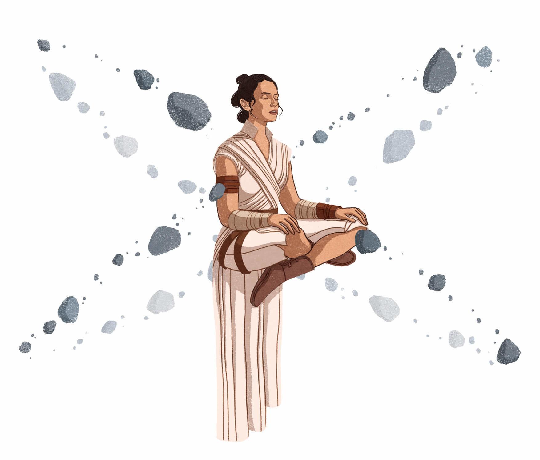 Star Wars: The Jedi Mind: Red Meditating