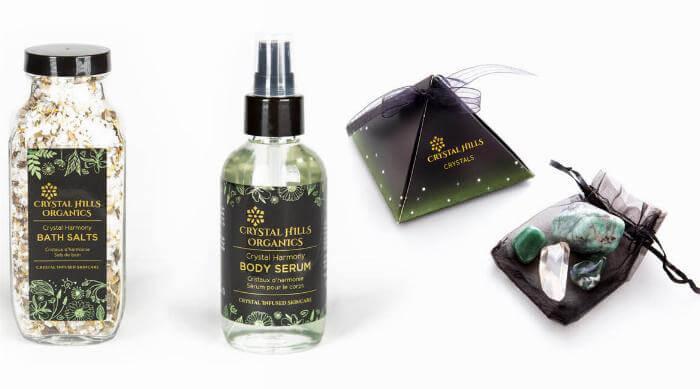 Crystal Hill Organics bath products