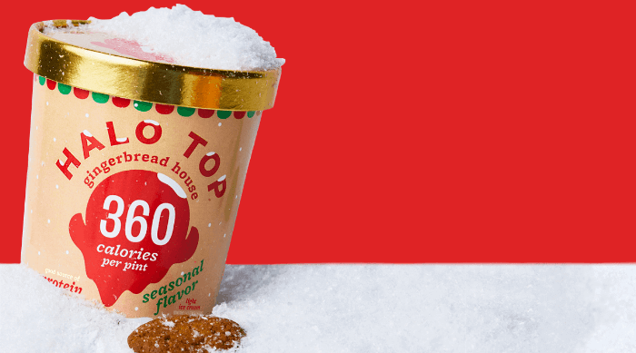 Halo Top gingerbread house background