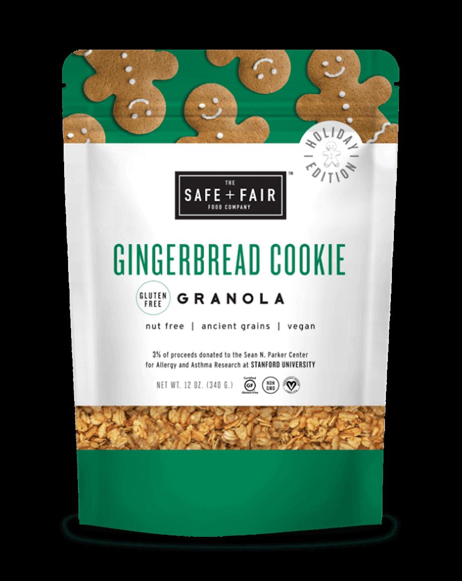 Safe and Fair gingerbread granola