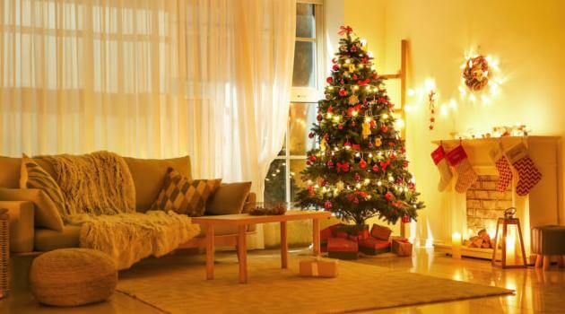 Shutterstock: Christmas tree and decorations