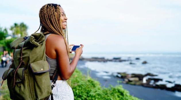 Shutterstock: woman traveling