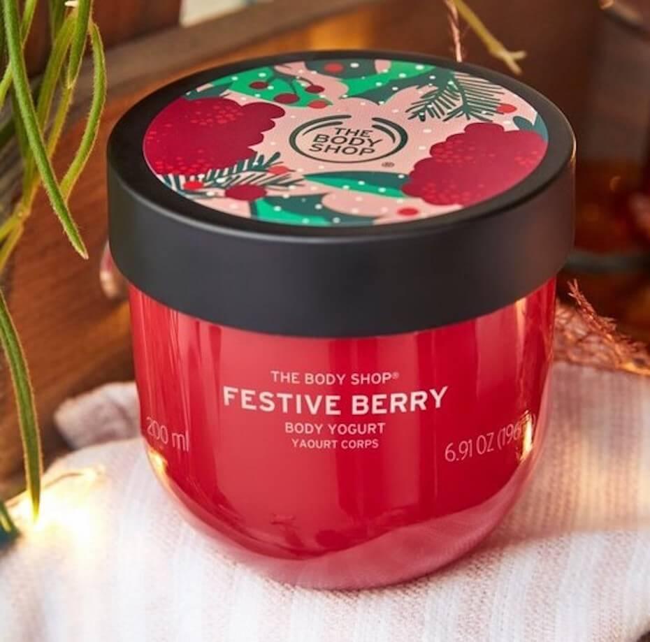 The Body Shop: Festive Berry Body Yogurt