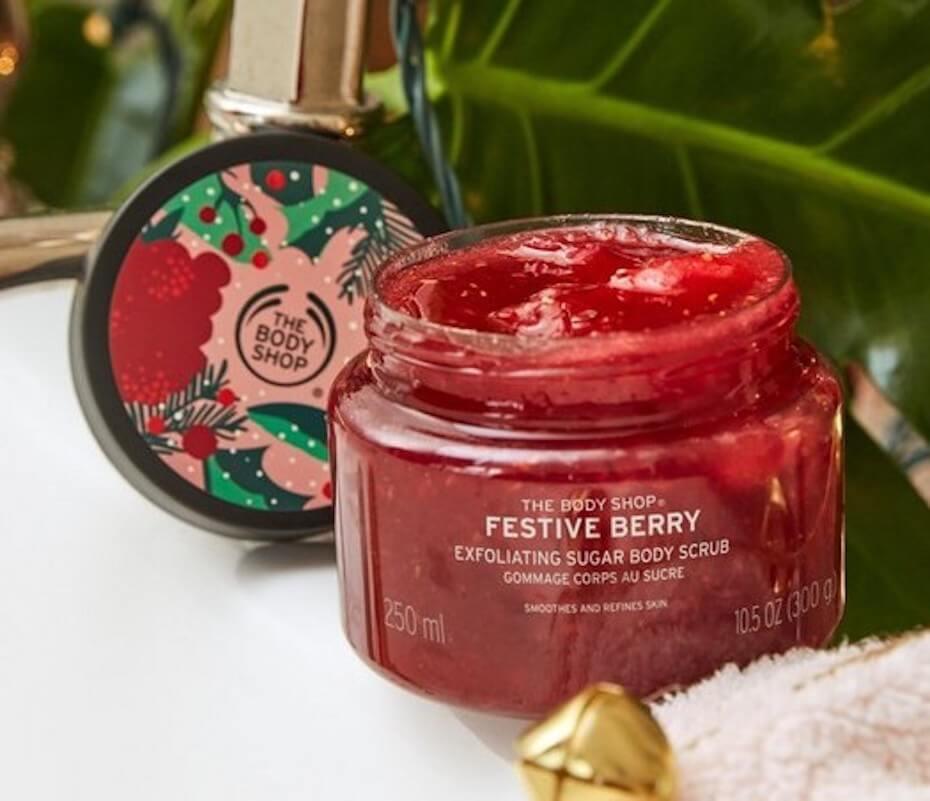 The Body Shop Festive Berry Exfoliating Sugar Body Scrub