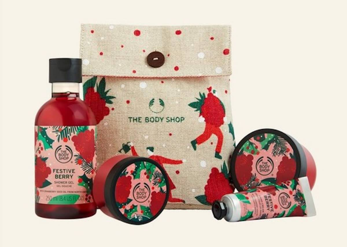 The Body Shop Festive Little Berry Gift Pouch