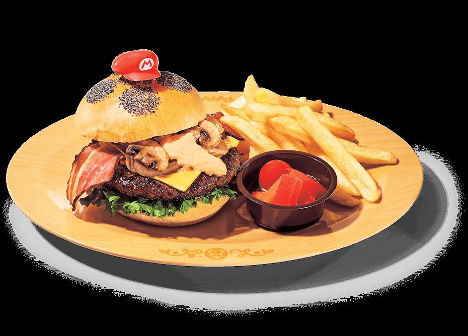 Super Nintendo World Bacon Cheese Super Mario Burger
