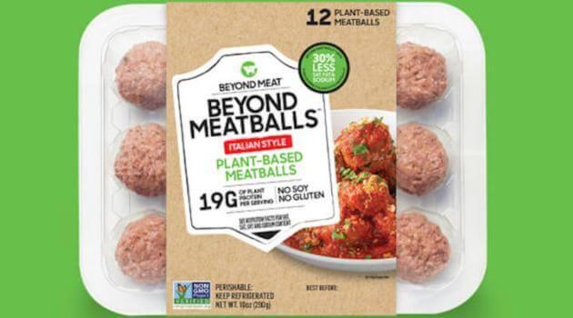 Beyond Meat: meatball package