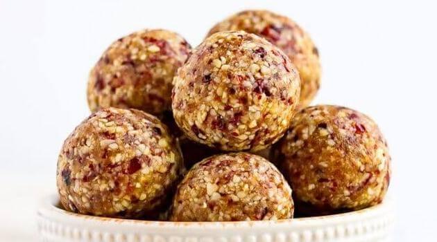 Eating Bird Food- cranberry energy balls