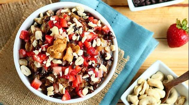 I Love Veggies: chocolate strawberry oatmeal