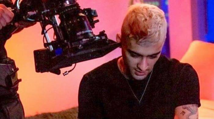 Instagram Zayn Vibez music video shoot