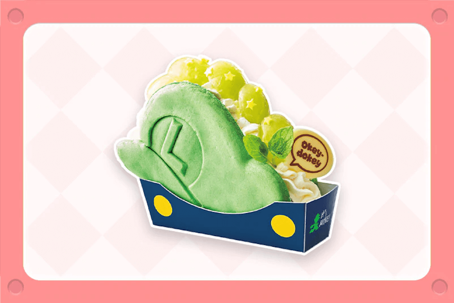 Super Nintendo World Luigi Grape Cheesecake Pancake Sandwich