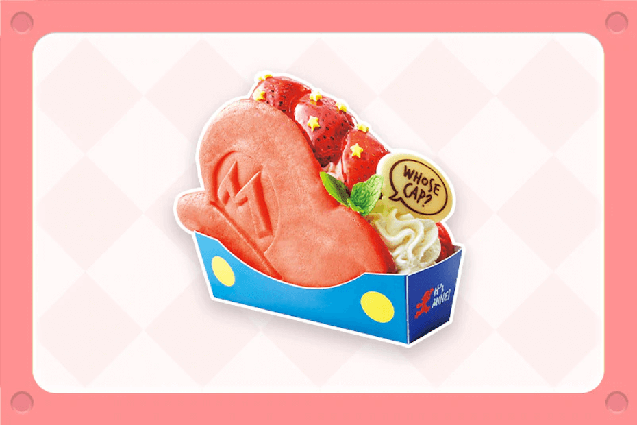 Super Nintendo World Strawberry Shortcake sandwich