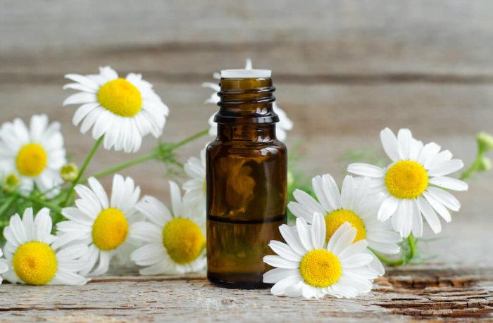 Shutterstock: chamomile essential oil