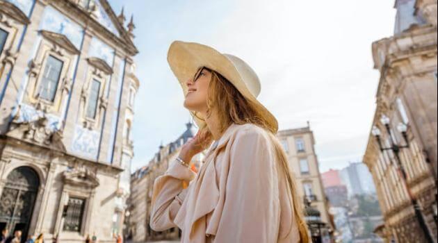 Shutterstock: woman traveling abroad