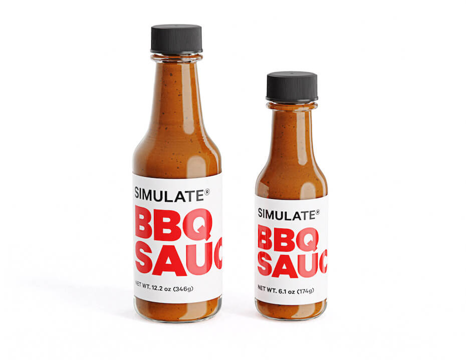 SIMULATE BBQ Sauce bottles