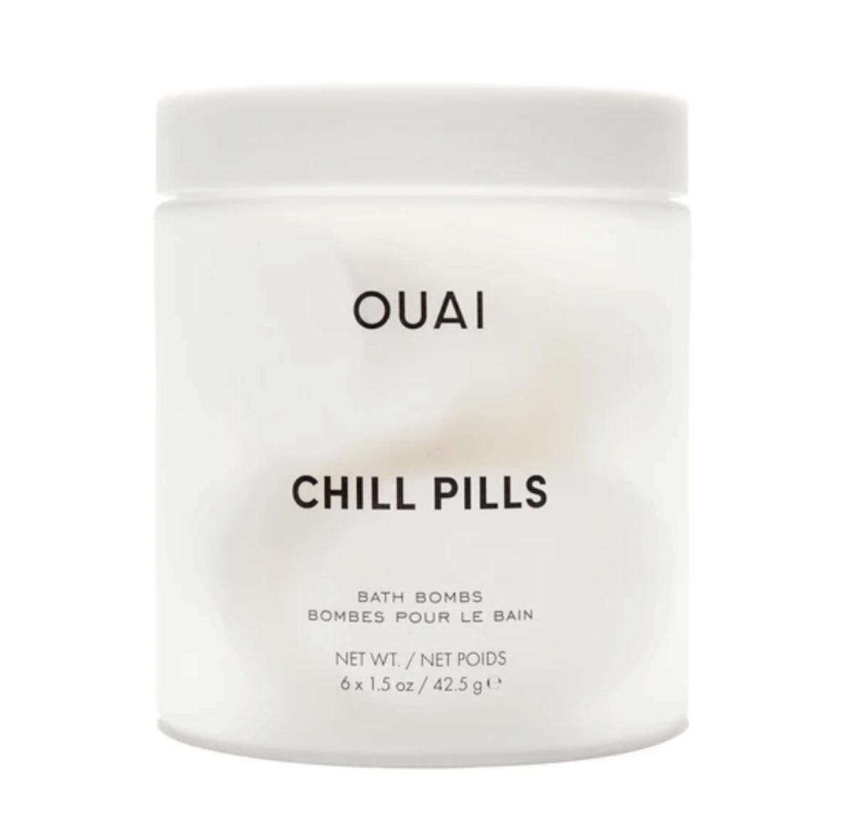 the ouai chill pills bath bombs