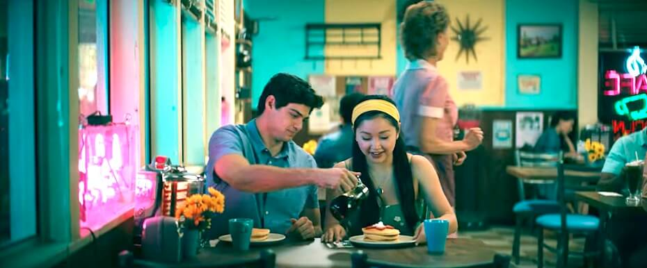 To All the Boys: Always and Forever Peter and Lara Jean at diner