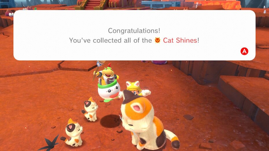 Bowser's Fury collected all cat shines