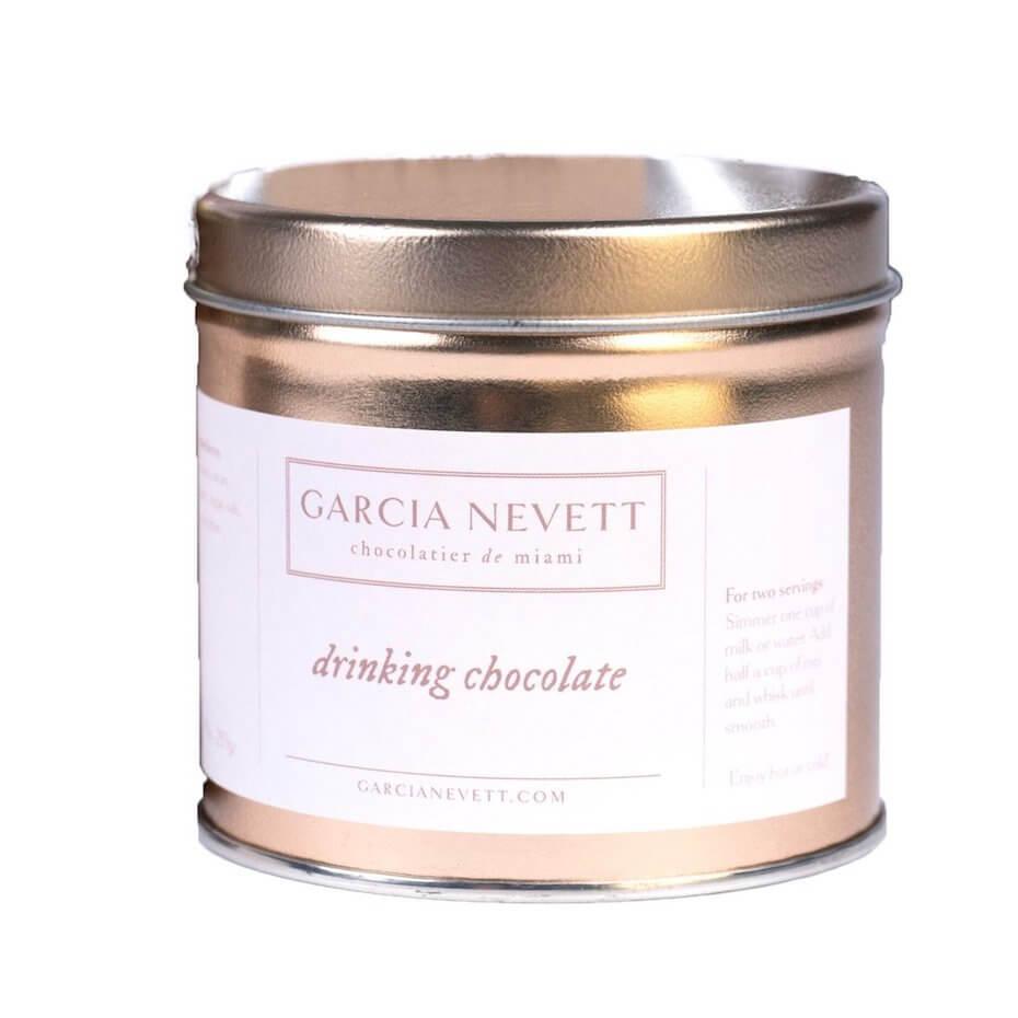 Garcia Nevett drinking chocolate