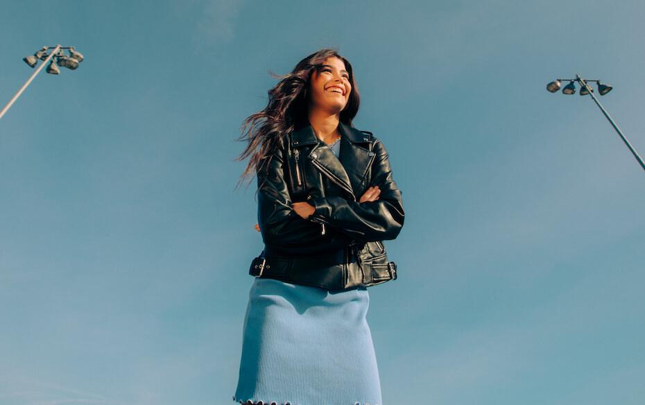 Lauren Dunn: Dylan Conrique in leather jacket