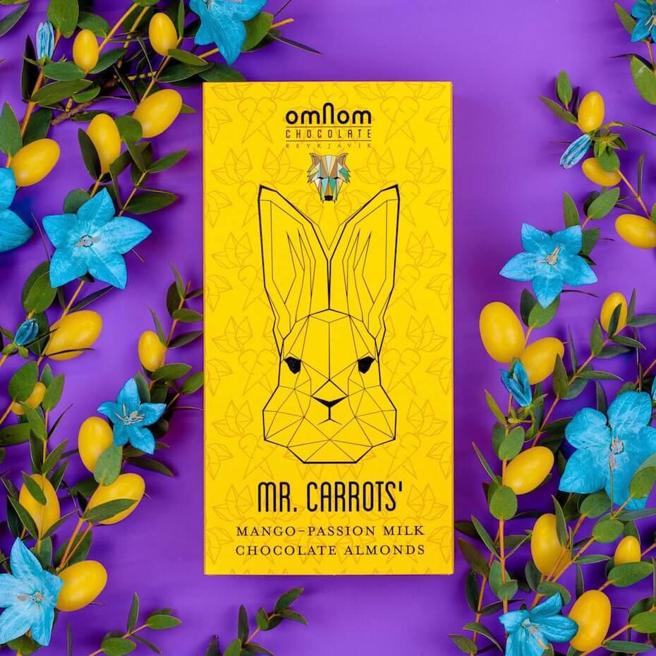 Omnom Mr Carrots Almond Box outside