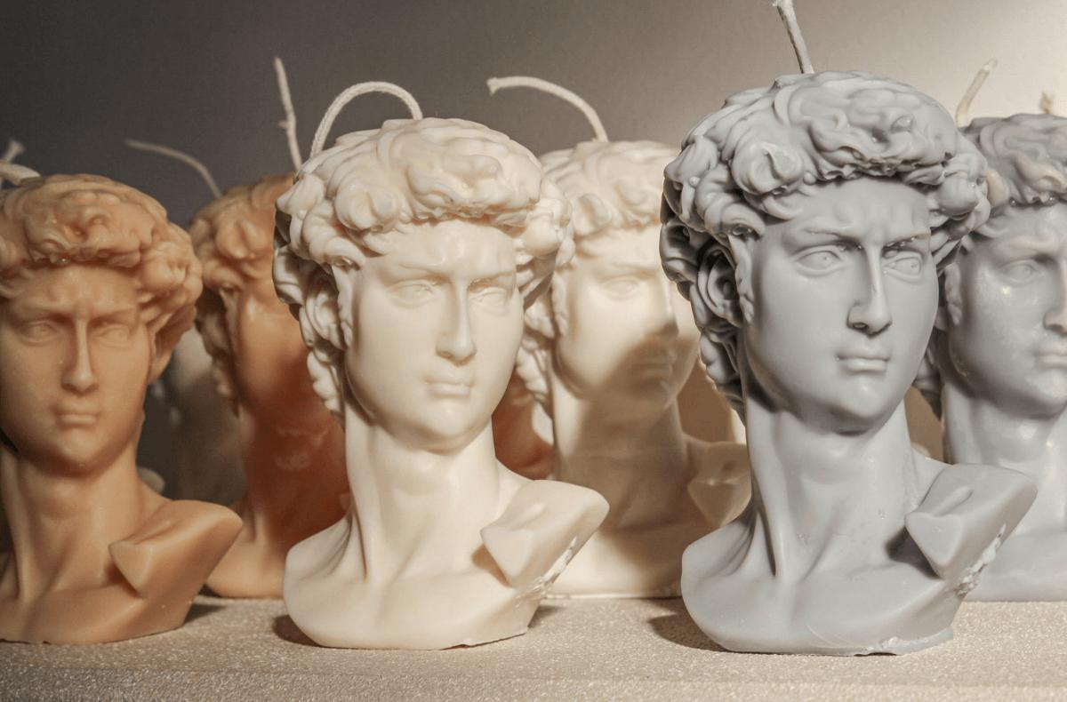 sculpture candle