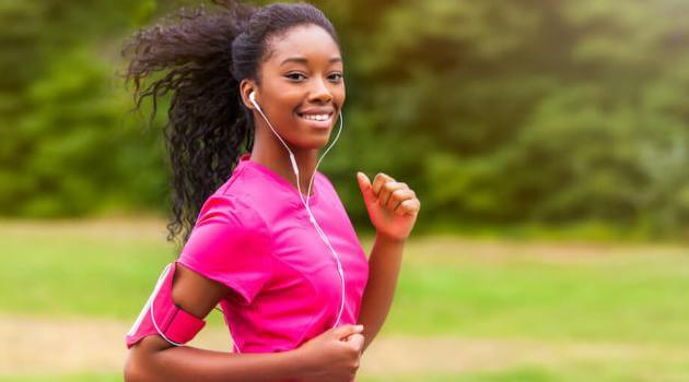 Shutterstock: woman running outside